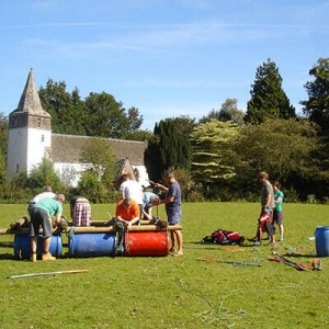 Raft-Building-Group-Activity